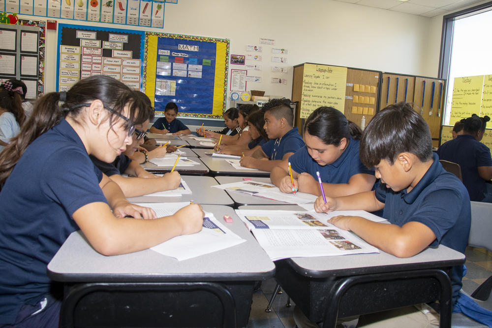 HSD students writing